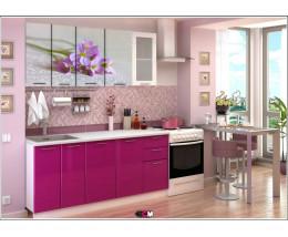 Кухня с фотопечатью Цветок