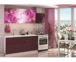 Кухня с фотопечатью Орхидея
