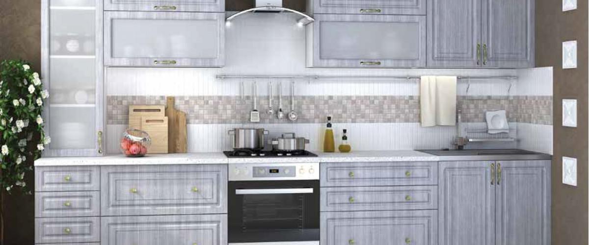 Кухня Юлия Сандал серый