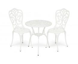 Комплект Secret De Maison Romance (стол +2 стула) алюминиевый сплав, D60/H67, 53х41х89см, butter white