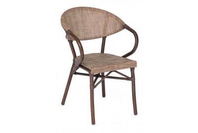 Кресло Milano Junior (mod. AD642003TXT) каркас: алюминий, материал: текстилен, 56х57х84см, D28х1,5мм , коричневый/бежевый