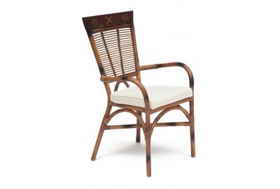 Стул Secret De Maison Kavanto с подлокотниками натуральный ротанг, 98х60х51см, коричневый античный / Brown Antique