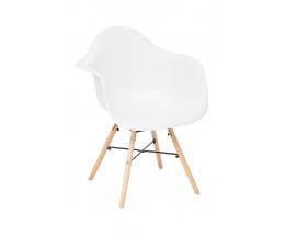 Кресло Secret De Maison CINDY (EAMES) (mod. 919) дерево береза/металл/сиденье пластик, 61*60*82см, белый/white with natural legs