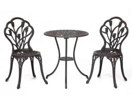 Комплект Secret De Maison Waltz of flowers (стол +2 стула) Вальс цветов алюминиевый сплав, D60/H67, 47Х41Х86см, бронза/bronze