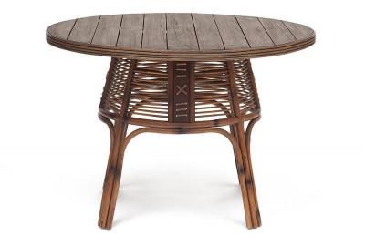 Стол Secret De Maison Обеденный Lean натуральный ротанг, 110*110*76 см, коричневый античный / Brown Antique