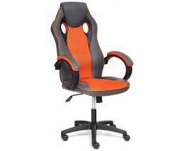 Кресло RACER GT new кож/зам/ткань, металлик/оранжевый, 36/07