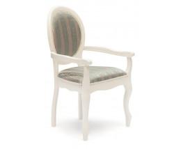 Кресло Fiona ( FN-AC ) дерево гевея, 60х55х97см, butter white (слоновая кость), Бирюзовая ткань (H180-19)