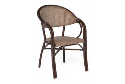 Кресло Milano (mod. AD642003S-TXT) каркас: алюминий, материал: текстилен, 56х62х84см, двойная труба D28х1,5мм, коричневый/бежевый
