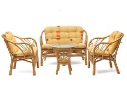 Комплект NEW BOGOTA диван,2 кресла, стол (мед)