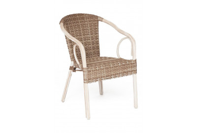 Кресло Corino(mod. AD632010F) каркас: алюминий, материал: искусственный ротанг, 55х62х80см, D32х1,35мм , античный бежевый