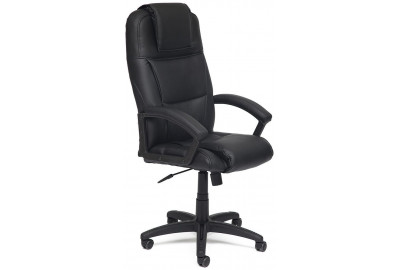 Кресло BERGAMO кож/зам, черный, 36-6