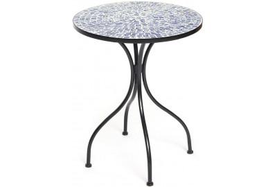 Стол Secret de Maison ROMEO (mod. PL08-7477) металл, 60*72см, черный/синяя плитка