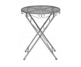 Стол Secret De Maison Patio стальной сплав, 60Dх70см, Серый/grey