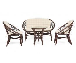 Комплект TURKEY стол 2 кресла диван  орех
