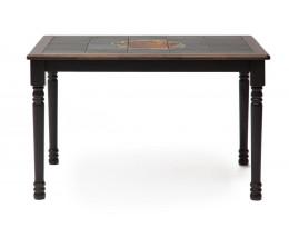 CT 3045P Стол с плиткой дерево гевея/плитка, 115х70х76см, Венге (Wenge) , рисунок-Корзина с фруктами