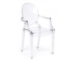 Кресло Secret De Maison MEDALION (mod. 922) пластик, 56,5*53,2*92,5см, бесцветный