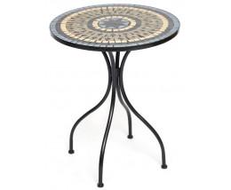 Стол Secret de Maison ROMEO (mod. PL08-1070) металл, 60х72см, Black/Blue Brown Mosaic