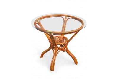 Стол Alexandre 03-5029/T-1 со стеклом Коньяк