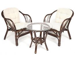 Комплект NEW BOGOTA 2 кресла, стол Орех