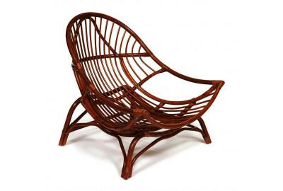 Кресло из ротанга VENICE без подушки (орех)