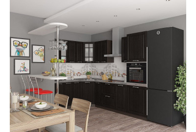 Кухонный набор мебели Прага-03 Венге Премиум