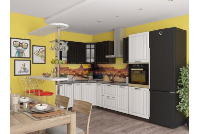 Набор кухонной мебели Прага-03 Венге Премиум/Белое дерево